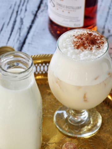 Glass of Milk Punch cocktail