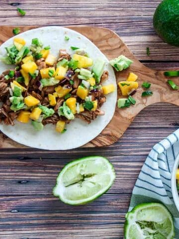 BBQ Jackfruit Taco with Mango Salsa