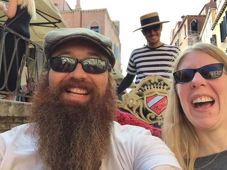 Ben and Ashley in Venice