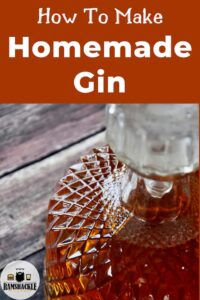 """""""How to Make Homemade Gin"""" with a picture of a bottle of gin"""