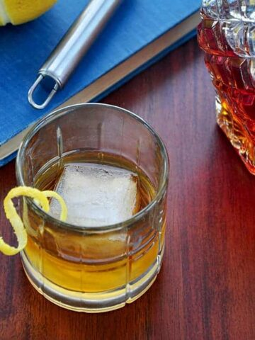 Glass of Wood Soaked Whiskey