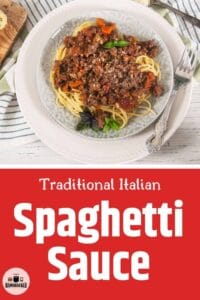 Overhead image of our Traditional Italian Spaghetti Sauce.