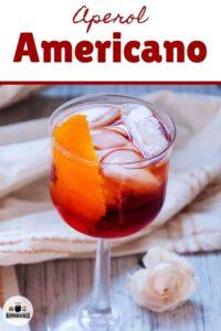 Aperol Americano Cocktail