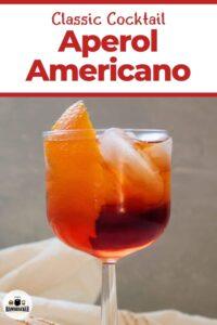 Classic Cocktail Aperol Americano