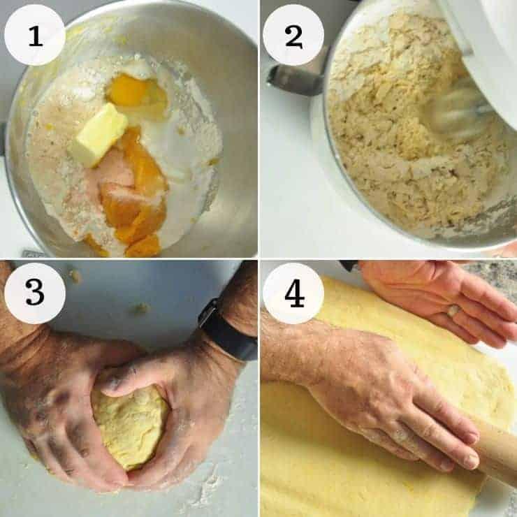 Making Cinnamon Roll Recipe Dough.