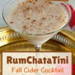 RumChataTini Fall Cider Cocktail