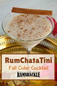 RumChataTini Fall Cider Cocktail