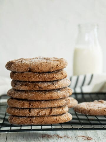 Stack of the Soft Ginger Cookie recipe.