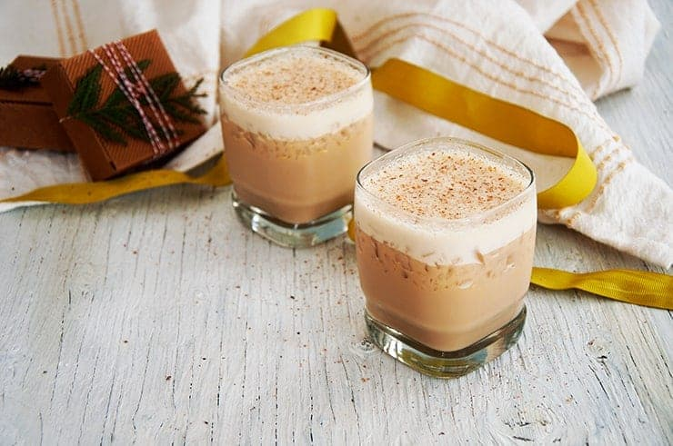 Two Kahlua Spiked Eggnogs