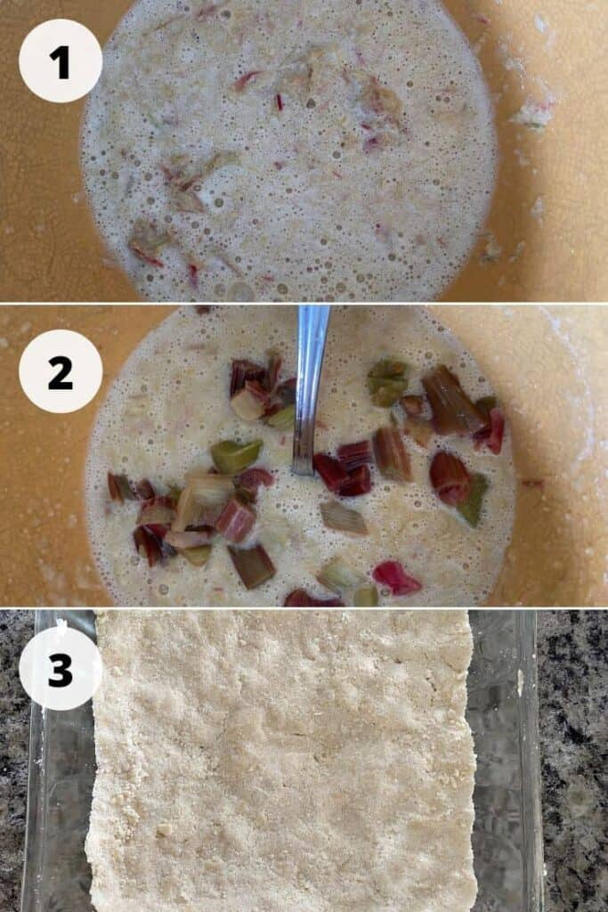 Process picture of three different steps to cooking this recipe with the description directly below.