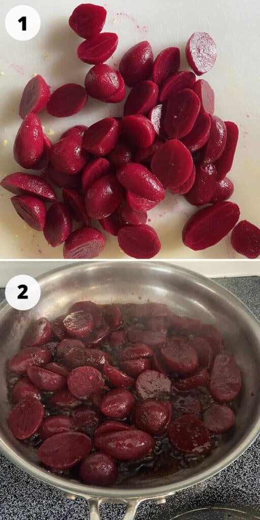 Fried Beet Process Pictures - Full Description Listed Below.